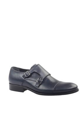 Cabani Tokalı Klasik Erkek Ayakkabı Lacivert Antik Deri