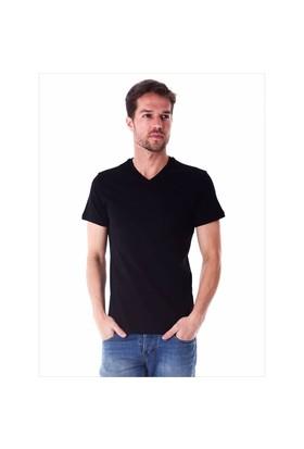 Ayyıldız 59483 Siyah V Yaka Erkek T-Shirt