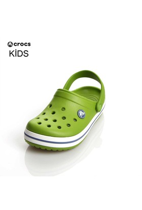 Crocs Crocband Kids Parrot Green-White 29-34 P022559-Aw4 Sandalet