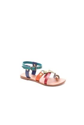 Gio&Mi Renkli Sandalet V21