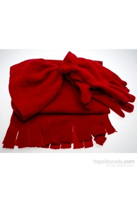 Bigg Polar Atkı-Bere-Eldiven Set / Kırmızı