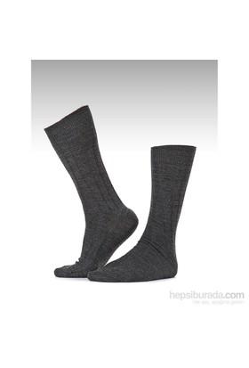 Miorre Derby Burun Dikişsiz Erkek Çorap Siyah