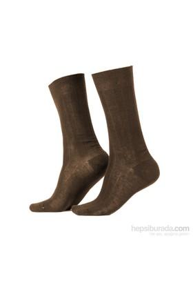 Miorre D&W Derby Pamuk Erkek Çorap Kahve