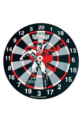 Voit Orijinal Lisanslı Superman Dart Seti, 6 Adet Ok, Çift Taraflı Kullanım, Çap 45cm