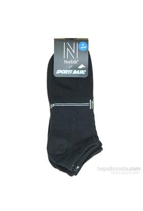 Norfolk Erkek 3'Lü Spor Patik Çorap Siyah