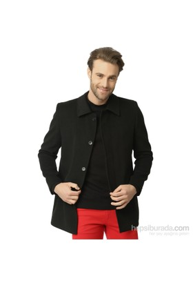 Dewberry Erkek Palto Siyah