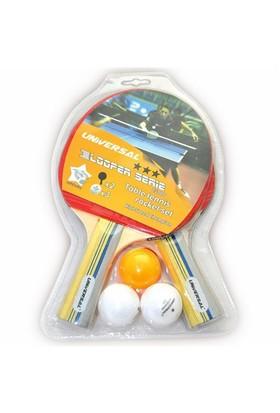 İnter Spor Universal 8500D 2 Raket 3 Top Set
