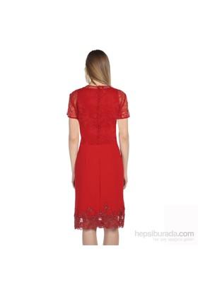 Karahasans Kırmızı Dantel İşlemeli Bluz