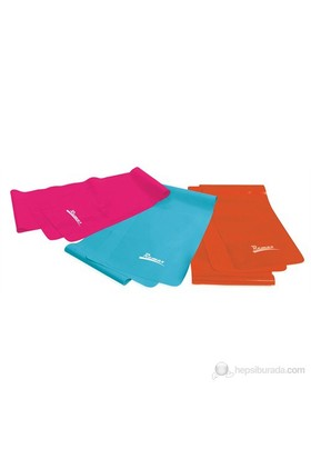 Remax 3 'lü Deluxe Pilates Bant Seti - RMX 3150 ( 150 cm x 15 cm x 0.35 - 0.50 - 0.65 mm )