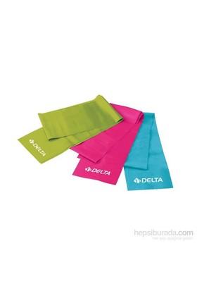 Delta 150 Cm X 15 Cm Hafif & Orta & Tam Sert 3 Farklı Direnç Seviyeli Pilates Bant Seti - Pbs 908