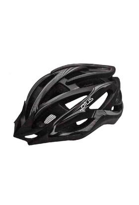 Plus Mv88 Siyah Gri Bisiklet Kaskı