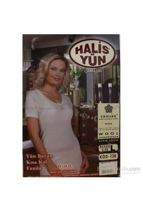 Halis Yün 8008 Kısa Kol Bayan Krem
