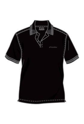 Lotto Brodsy Pq Erkek Siyah Polo Tişört (R5136)