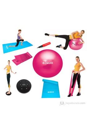 Delta Deluxe Fuşya Pilates & Egzersiz Seti - FPT 15