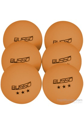 Busso BS12321 6'lı Pinpon Topu Turuncu