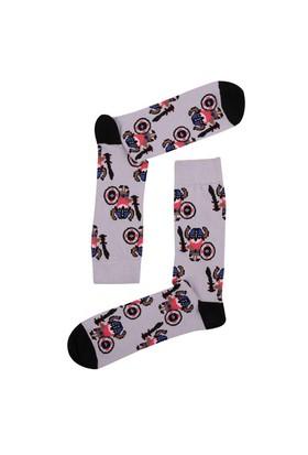 The Socks Company Grog Man Desenli Erkek Çorap 41-45 Numara