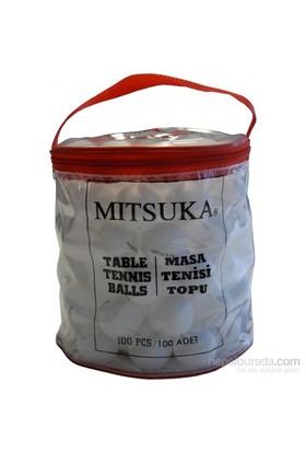 Mitsuka Çantalı 40 Mm 100'Lü Beyaz Masa Tenis Topu