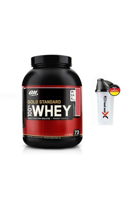 Optimum Whey Protein Tozu Gold 2273 Gr + Shaker Çilek