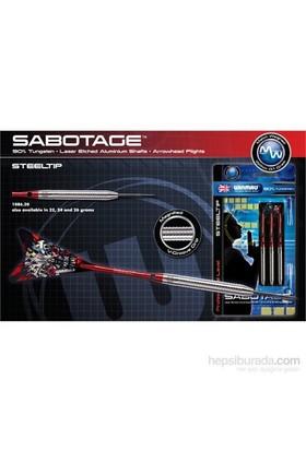 Winmau Sabotage % 90 Tungsten Çelik Uçlu Dart-24 Gram