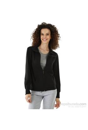 Kappa 1 3026LF0 005XL Bayan Kadın Likralı Ceket Siyah