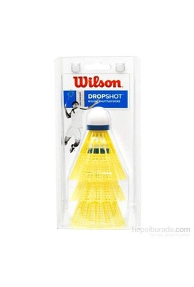 Wilson Badminton Topu Dropshot 3 Clamshel 3lü Sarı ( WRT6048YE )