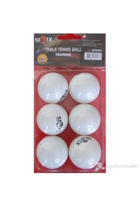 Selex Tb-100 6 lı Masa Tenisi Topu Beyaz