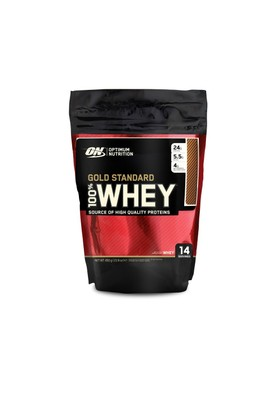 Optimum Nutrition 100% Whey Gold Std - Choc Bag 450g Multi-lingual