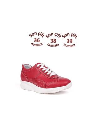 Crunell 8277 027 563 Kırmızı Deri Günlük Ayakkabı