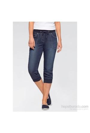 Bonprix John Baner Jeanswear 3/4 Paça Kapri Jean Mavi