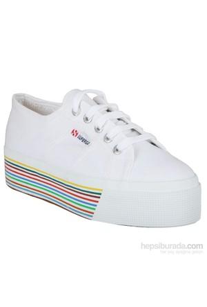 Superga Fox Stripe Kadın Ayakkabı Beyaz