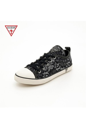 Guess Fl1jay Lac12 Jacilyn-Active Woman-Lace Black-Silver