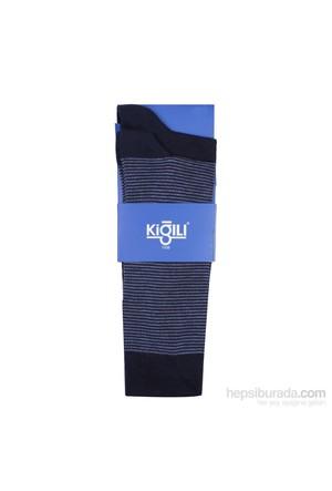 Kiğılı 2'Li Çizgili Çorap 6Ynex307455