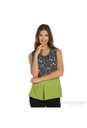 Lir Büyük Beden Yeşil Bluz