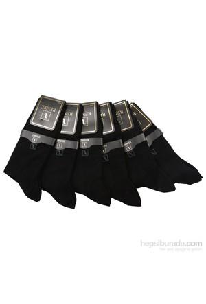Remel Erkek Kutulu 6 Çift Siyah Bambu Çorap