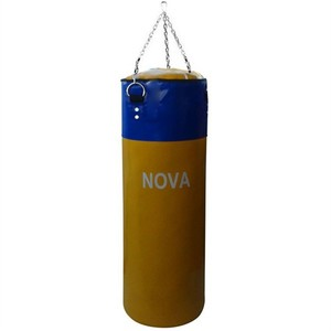 nova 80 cm x 30 cm sarı lacivert boks kum torbası - sarı - lacivert
