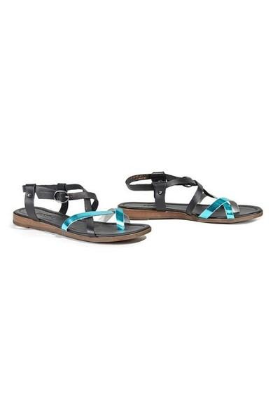 Desa Madelyn Kadın Sandalet Siyah/Turkuaz 5580