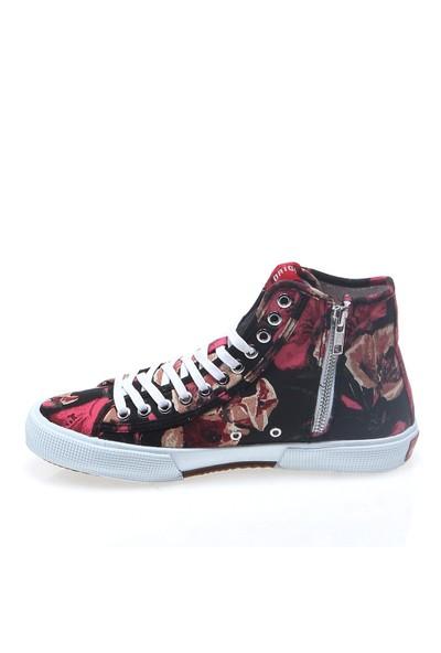 D.A.T.E Tender High Flower E14O-Th-Fl-Bk Kadın Ayakkabı Black