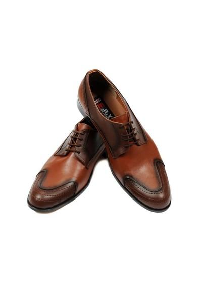 Taba Renkli Erkek Ayakkabısı + Kol Saati
