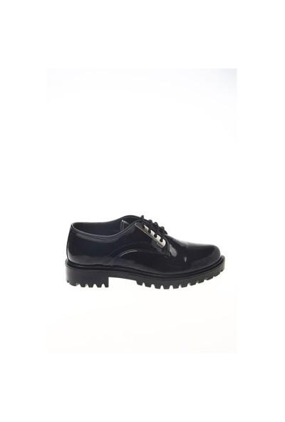 Shoes Time Oxford Babet Siyah Rugan 15K279812