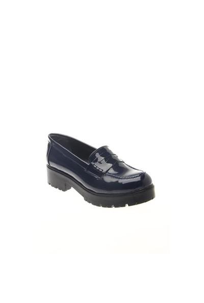Shoes Time Loafer Babet Lacivert Rugan 15K402