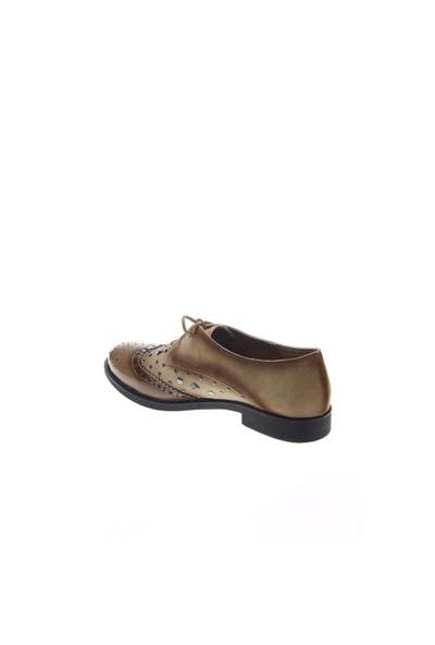 Shoes Time Oxford Babet Vizon Rugan Vizon Süet 15K501
