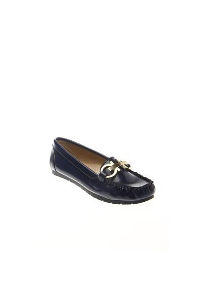 Shoes Time Loafer Babet Lacivert Açma Deri 15K2101