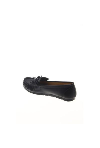 Shoes Time Loafer Babet Siyah Deri 15K2102