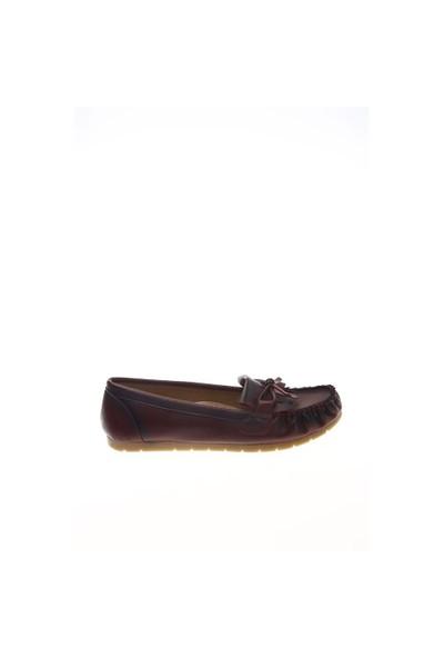 Shoes Time Loafer Babet Bordo Deri 15K2102