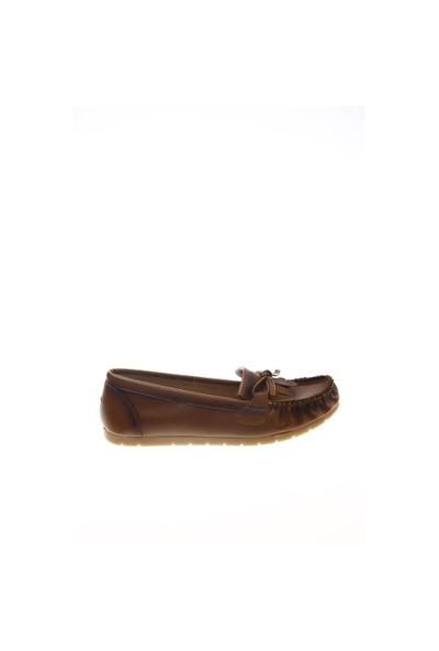 Shoes Time Loafer Babet Taba Deri 15K2102