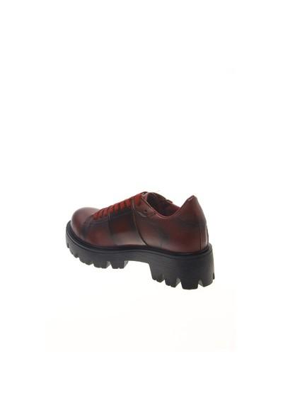Shoes Time Günlük Ayakkabı Bordo Deri 15K757