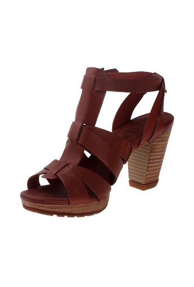 Timberland Eek Exeter Heights Sandal Backstrap 8720A Kadın Bot Lıght Brown Dry Gulch