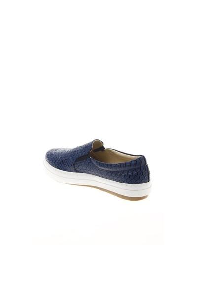 Shoes Time Günlük Spor Lacivert Baskı Deri 15K4101