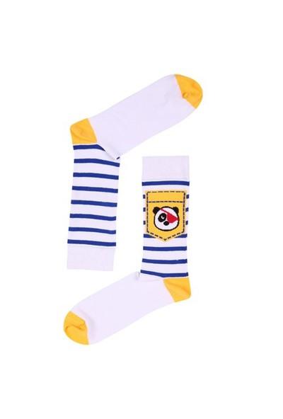 The Socks Company Pirate Panda Desenli Erkek Çorap 41-45 Numara