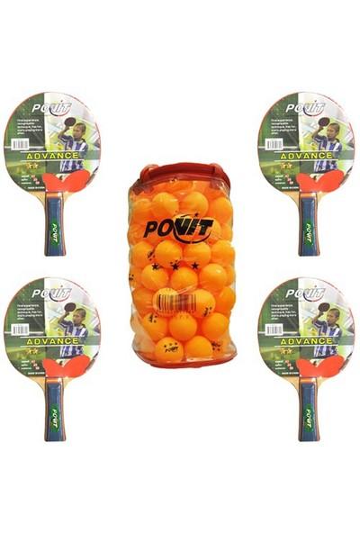 Povit Advance Masa Tenisi Raketi-Povit 100'lu Masa Tenisi Topu
